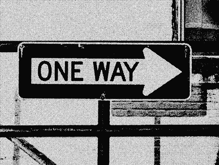 Stipplr Screentone Photoshop Vector Tracing One Way Sign