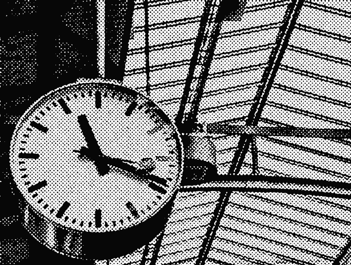 Stipplr Screentone Photoshop Vector Tracing Terminal Station Analog Clock