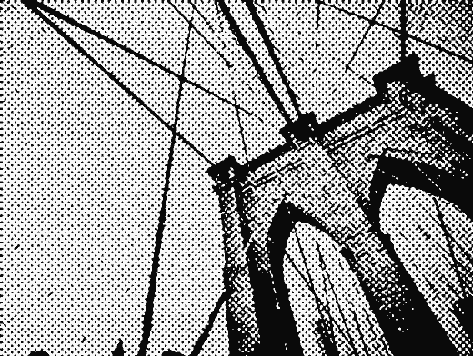 Stipplr Screentone Photoshop Vector Tracing Steel Cable Bridge