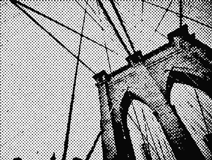 Stipplr Screentone Photoshop Vector Tracing Steel Cable Bridge