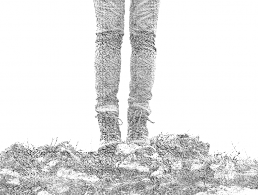 Stipplr Photoshop Tight Stipple Pattern Standing Mountain Hiker