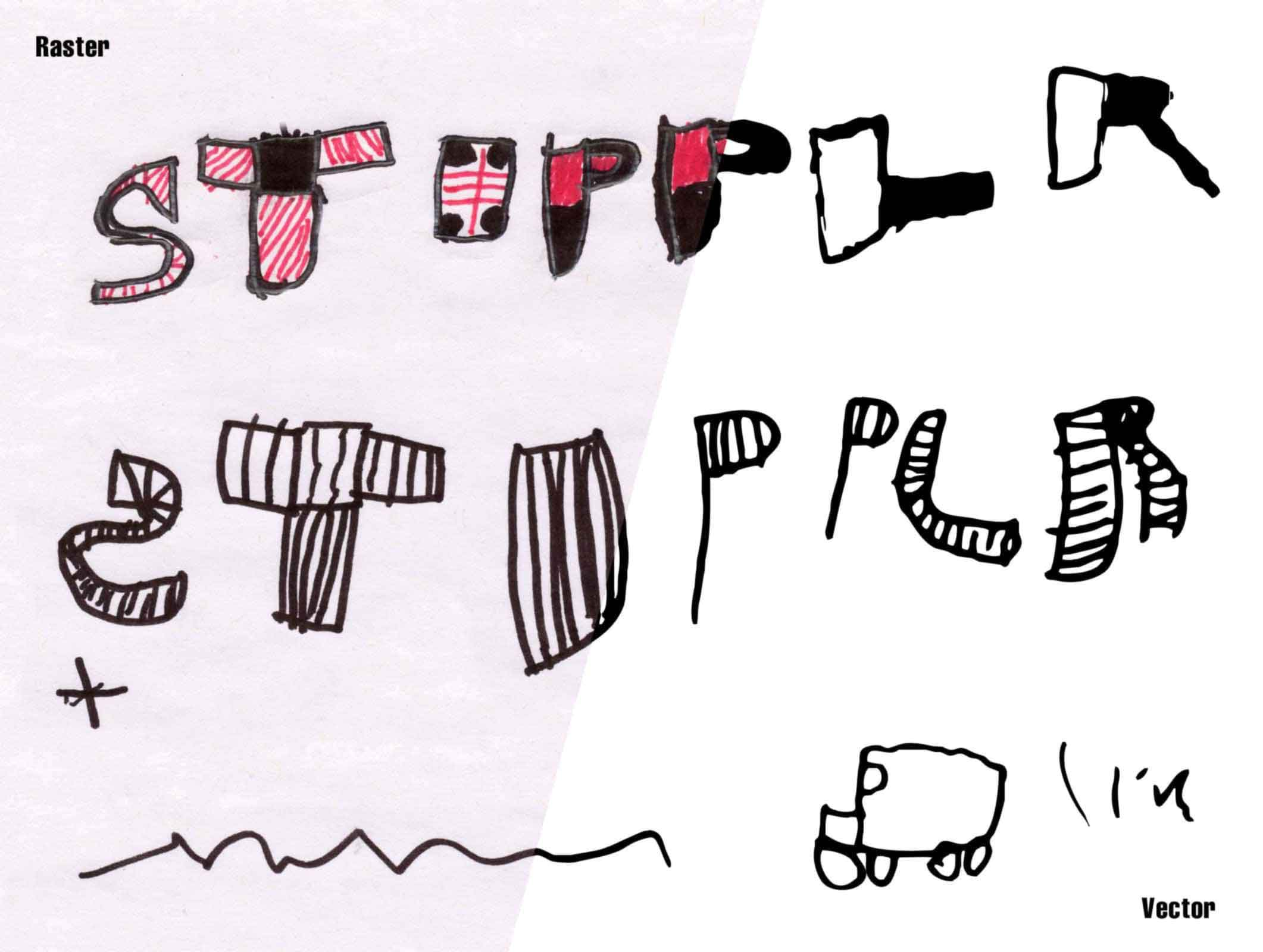 stipplr photoshop vector simple trace sons drawing - Simple Pictures To Trace