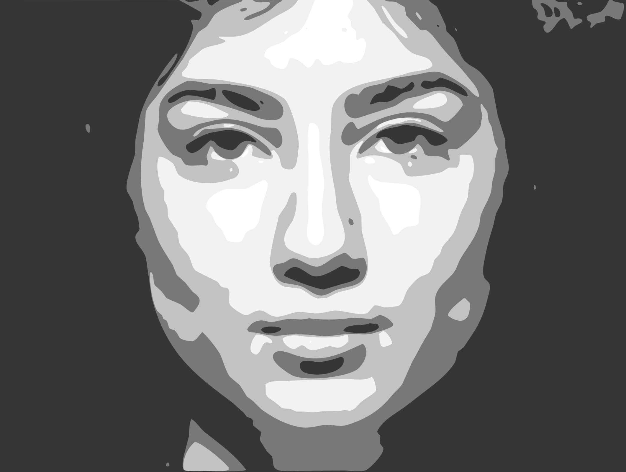 Contour Line Drawing Of Mona Lisa : Contour psd auto trace action effect