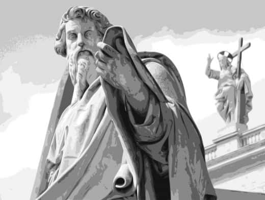 Stipplr Photoshop Vector Trace Grayscale Vatican St Paul Statue