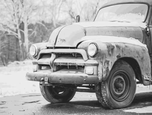 Stipplr Photoshop Vector Trace Grayscale Farmers Pickup Truck