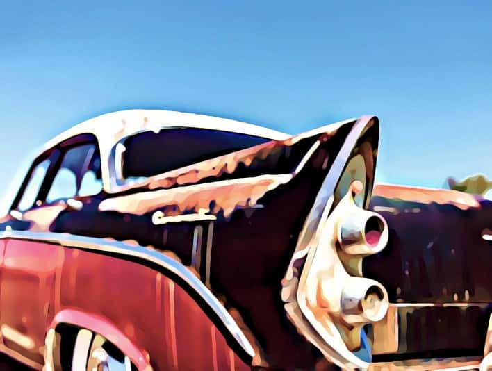 Stipplr Photoshop Cartoonize Action 1956 Dodge Coronet coupe