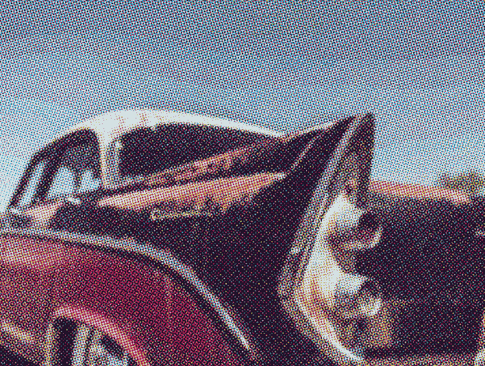 Stipplr Photoshop CMYK Vector Four Color Process 1956 Dodge Coronet coupe
