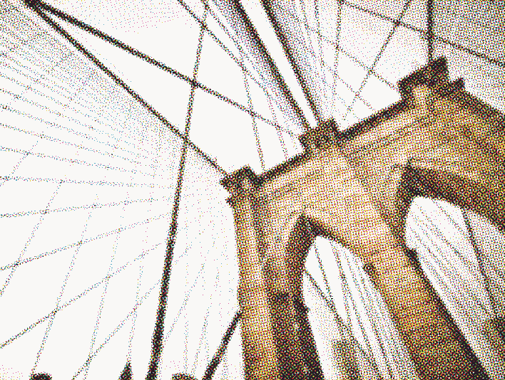 Stipplr Photoshop CMYK Vector Four Color Process Stone Cable Bridge