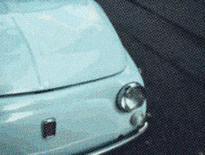 Stipplr Photoshop CMYK Vector Four Color Process Turquoise Fiat Car