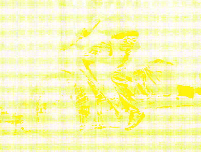 Stipplr Photoshop CMYK Yellow Channel Stencil Man Riding His Bike