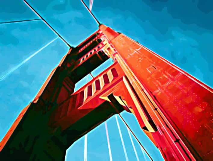 Stipplr Photoshop Pixel Vexel Art Steel Cable Bridge