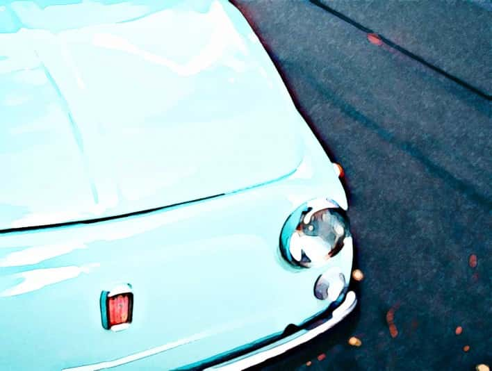 Stipplr Photoshop Water Color Action Fiat Car