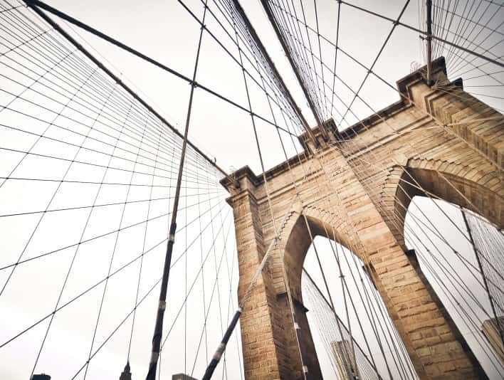 Stipplr Stock Photo New York Brooklyn Bridge Hybrid Cable Stayed Suspension