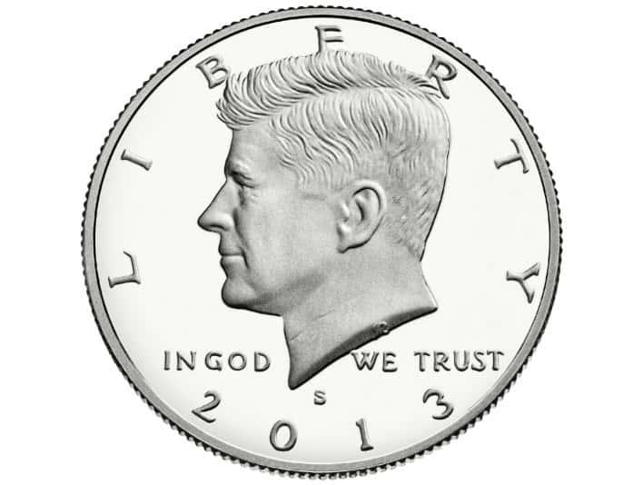 Stipplr Stock Photo United States John F. Kennedy Half Dollar Coin Obverse