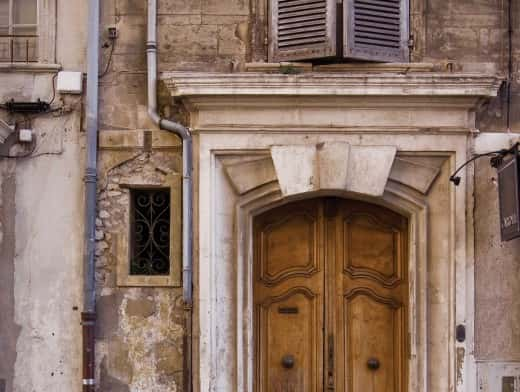 stipplr stock photo wooden door entrance way to caroll boutique in france