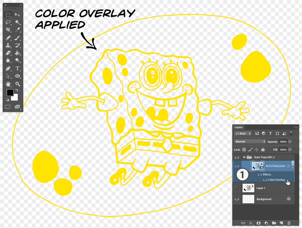 Color Overlay applied to Smart Object or Vector Shape has same result as applying colour to group in Illustrator