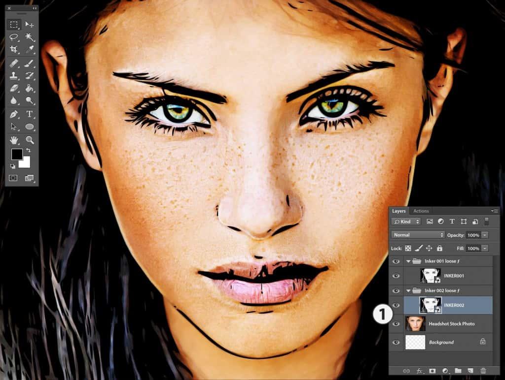 Photoshop Stipplr INKER002 result