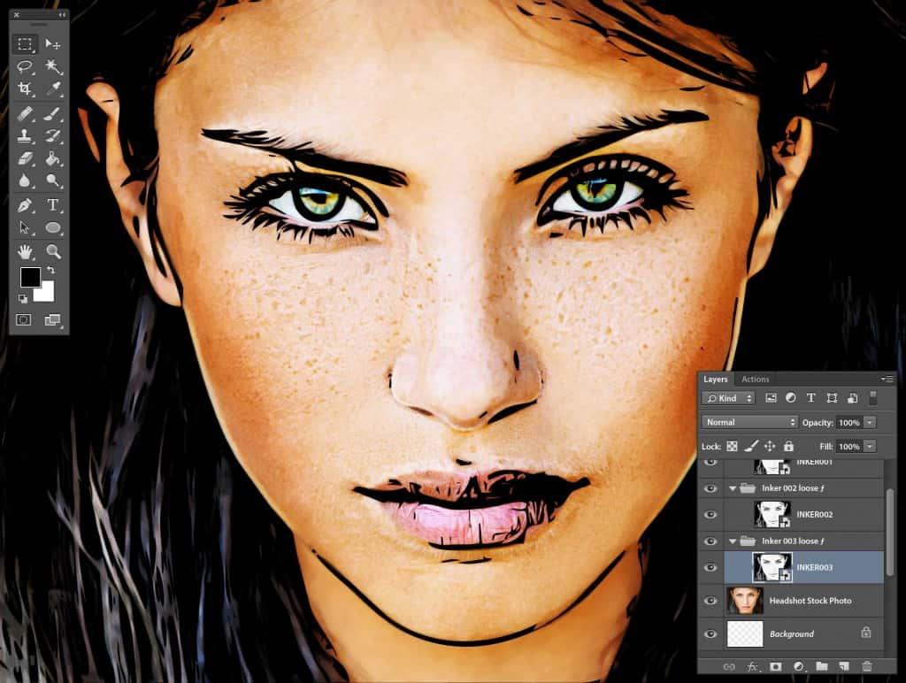 Photoshop Stipplr INKER003 result