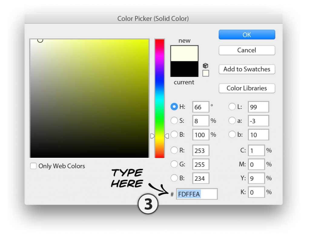 Photoshop use color picker to set US 100 doallar bill base colour