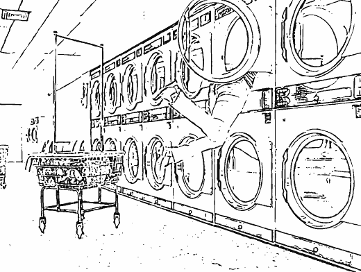 Stipplr Adobe Shape Outline Lady Stuck In Laundry Machine