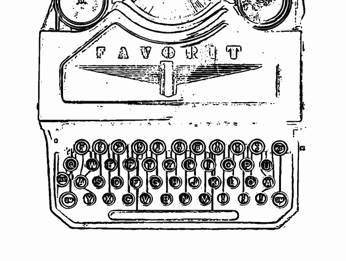 Stipplr Adobe Shape Outline Favorit Mechanical Typewriter