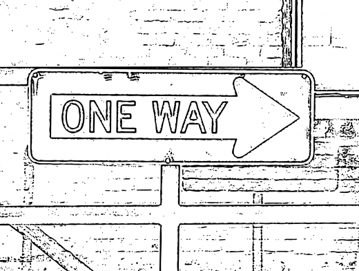 Stipplr Adobe Shape Outline One Way Street Sign