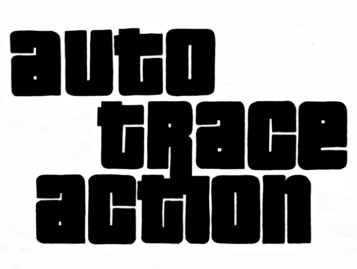 Stipplr Grand Theft Auto Font Style Trace Action Sample Sketch