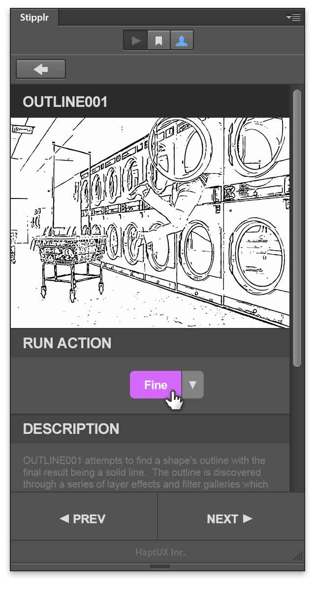 stipplr panel run outline001 shape trace action