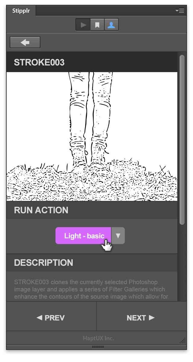 stipplr panel run stroke003 shape trace action