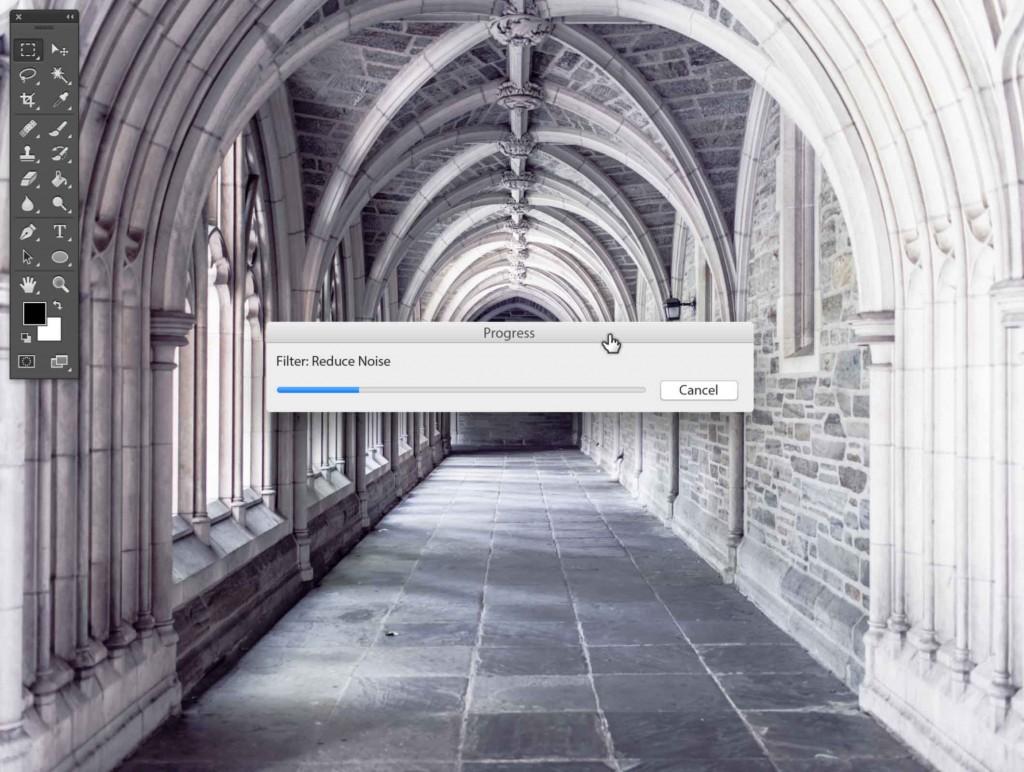 Photoshop Stipplr photo to cartoonize reduce noise modal