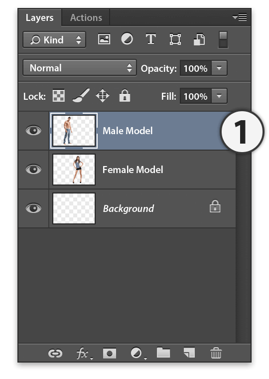 Stipplr multi-tone silhouette select model layer from layers panel