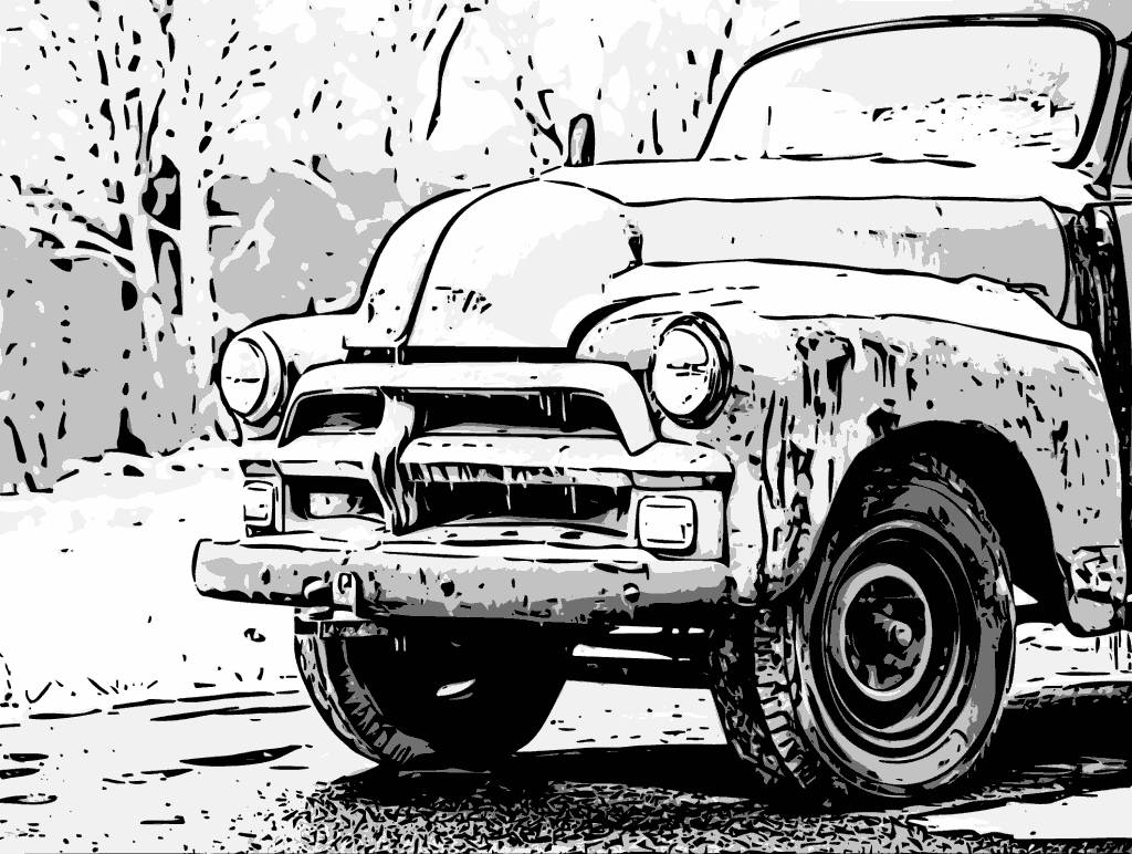 Line Art Effect Photo : How to turn color photos into graphic novel line art