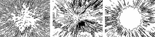 Stipplr Cartoon Blast Shape Trace Samples
