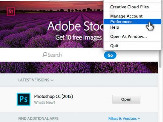 creative-cloud-preferences-menu