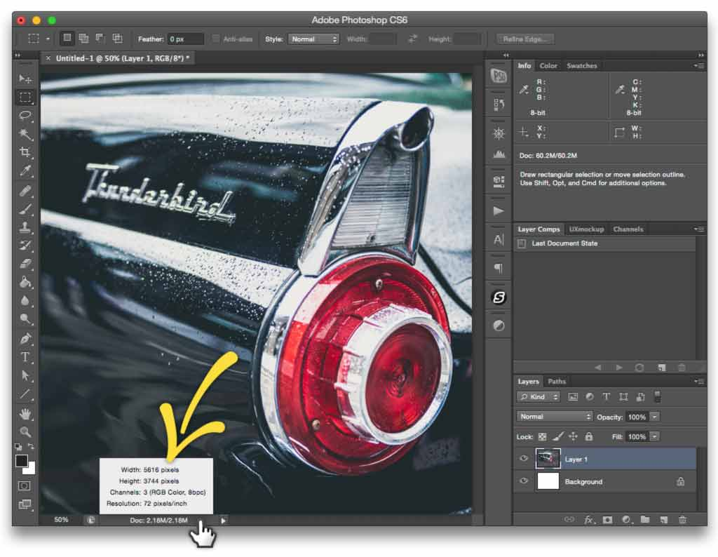 How To Calculate Megapixels Of Current Photoshop Document